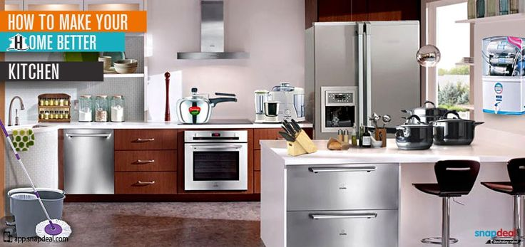 How to make your home better - Kitchen  Give an impression of a spacious kitchen with just few strategic yet simple decorating ideas.