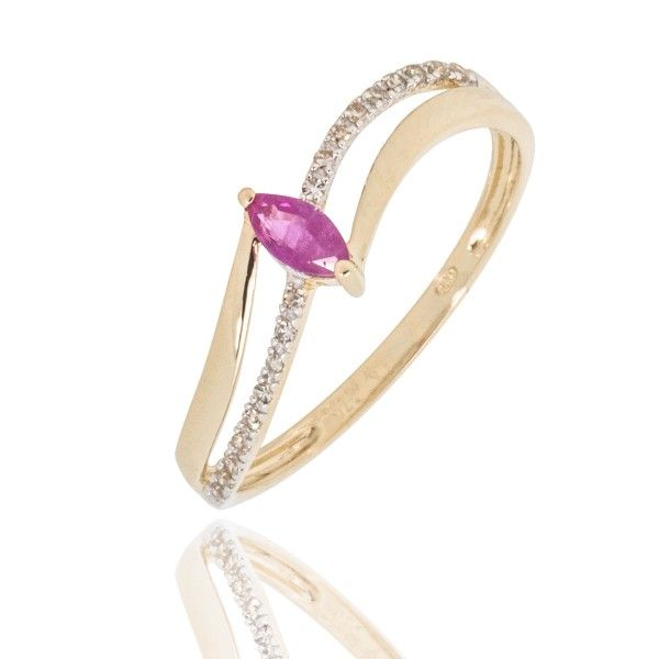 Bague Or 750 - Rubis & Diamants