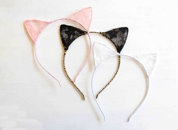 Lace Cat Ears Cat Ears Lace Cat Ears Cat Headband Cat by Ulous