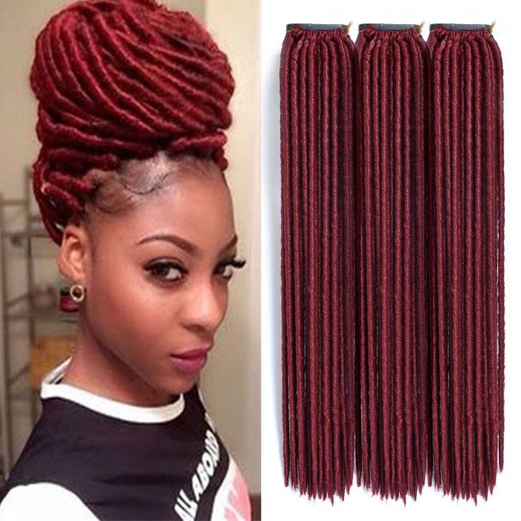 Faux Locs Crochet Hair Lot 18 Inch Dreadlock Extensions Black Women Ombre Synthetic Dread Extensions Dreadlocks Braids Ombre