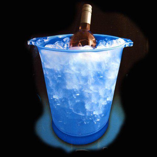 Seau champagne lumineux fabriqu en plastique d poli ce - Seau a champagne lumineux ...