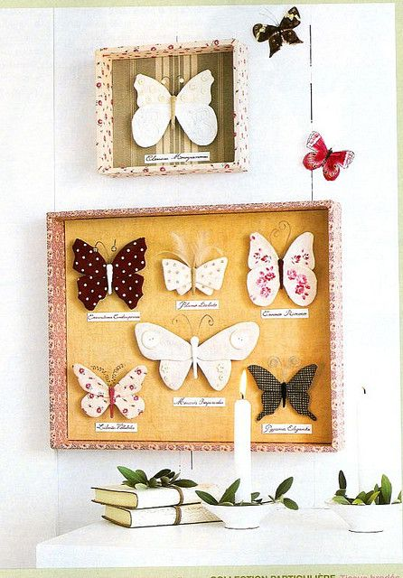 Now, here's a great display for all those butterflies that I have made out of soda and beer cans.