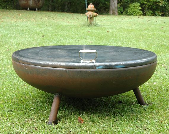 Fire Pit 36 Medium Depth With Angle Legs Metal Fire Pit Fire Pits Fire Pit Bowl Fire Bowl Fire Pit Cover Ind Custom Fire Pit Outdoor Fire Pit Garden Fire Pit