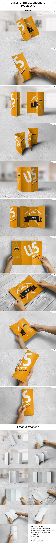 US Letter Trifold Brochure Mock-Ups - Brochures Print