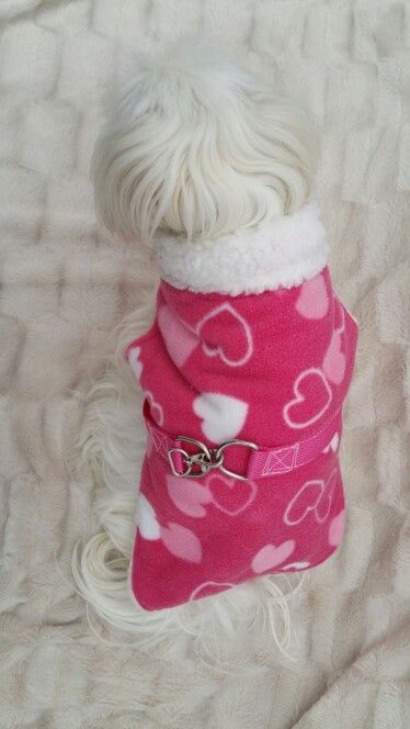 Pink with hearts fleece and faux sheepskin inside
