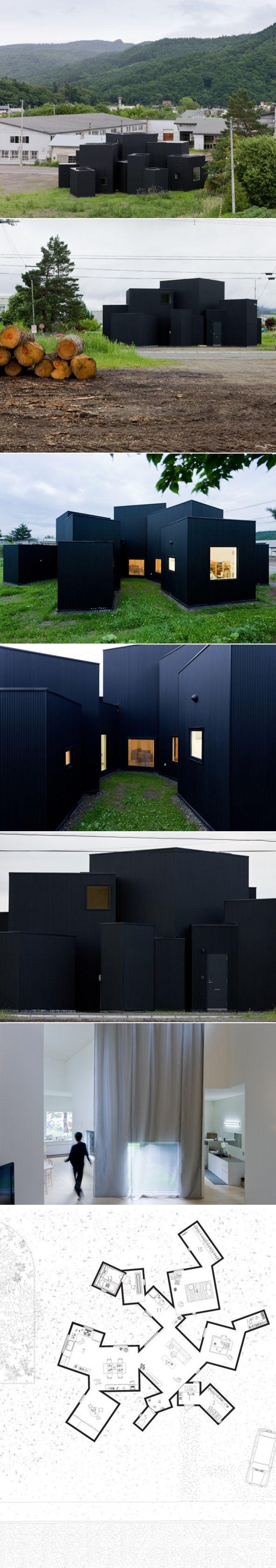 """Maison contemporaine """"House O"""" par Jun Igarashi Voici une magnifique habitation proche  d'Hokkaido au Japon, cette sublime maison ultra contemporaine est co"""