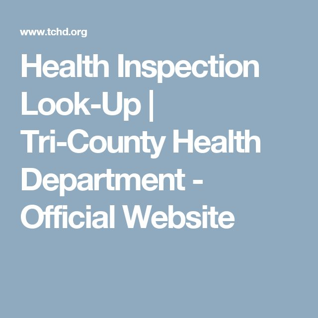 Health Inspection Look-Up   Tri-County Health Department - Official Website
