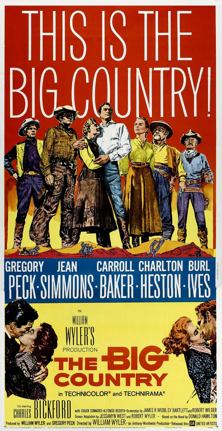1958 Movie Posters   MOVIE POSTERS: THE BIG COUNTRY (1958)