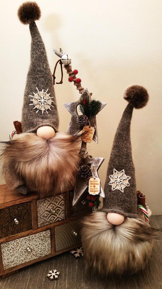 Christmas Gnomes Pinterest.Christmas Gnomes Woolen Grey And Unique Christmas Ideas