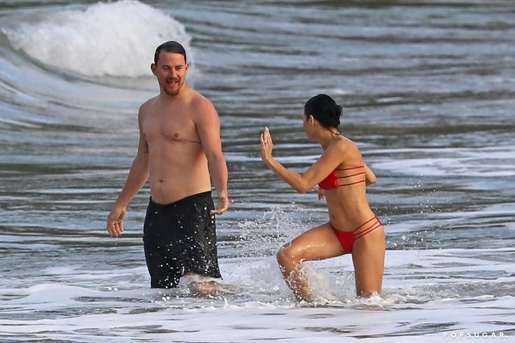 Channing Tatum and Wife Jenna Re-Create a Few of Their Step Up Scenes on the Beach