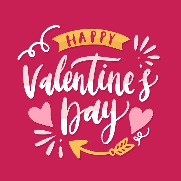 Happy Valentine S Day Typography In 2020 Happy Valentines Day Calligraphy Valentines Day Drawing Happy Valentines Day