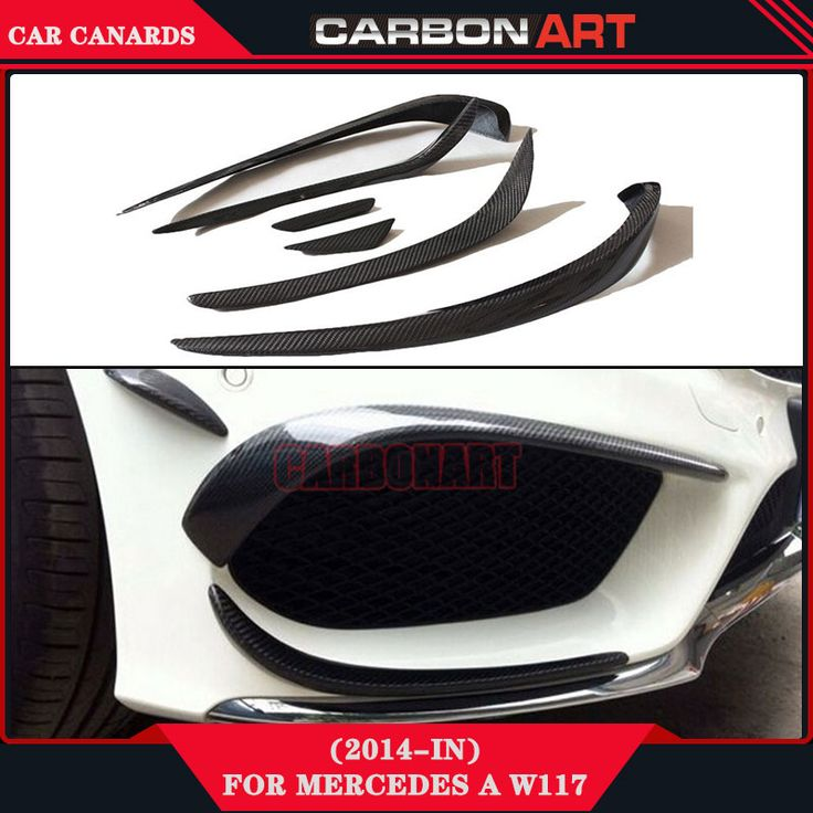 car spare parts car carbon fiber bumper canard splitter for mercedes a class sport car w117 CLA180 CLA200 CLA260 SPORT AMG modle