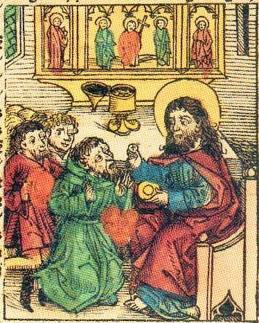 Prester John from Hartmann Schedel's Nuremberg Chronicle, 1493.