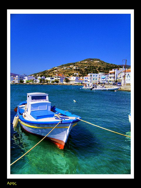 Korthi Andros island in Greece