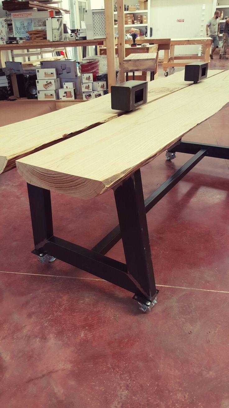 Wood desk scrivania in legno massello Xlab la fabbrica delle idee #xlabdesign