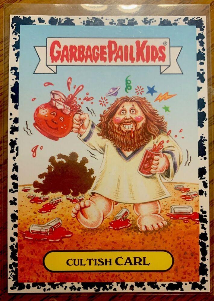 2017 Garbage Pail Kids Adam Geddon Cultish Carl 2a Bruised Black Border Gpk Nm Garbagepailkids Garbage Pail Kids Garbage Pail Kids Cards Kids Cards