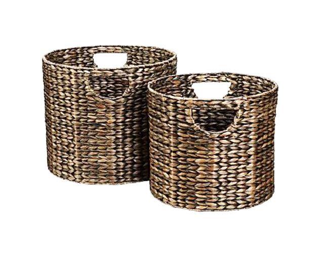 Công Ty Home24h: Antique Brown Basket Water Hyacinth - Home24h Vietnam Basket
