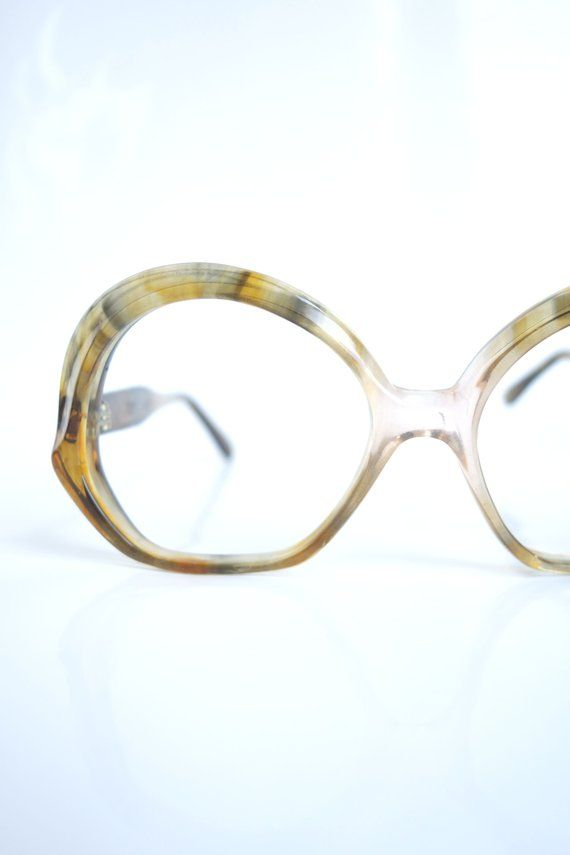 27f908a282 Vintage 1960s French Eyeglasses – Womens 1960s French Glasses – Round Thick  Frame 60s Glasses – Mid Century Modern Optical Frames