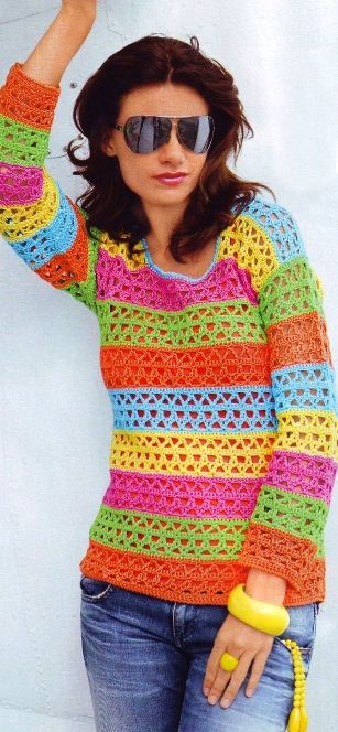 Very easy pullover, pattern & schematics available  Looks like I pinned this twice - see the earlier pin for link to pattern