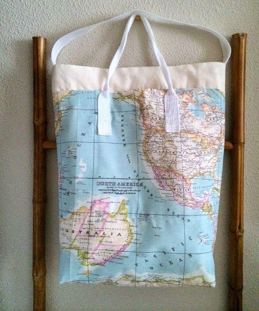 Bolsa Mapa Multibulsillos / Multipocket Map Tote Bag (diy) | SLOANE STREET