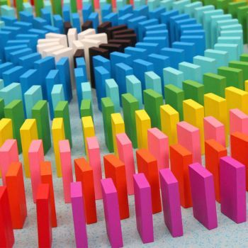 Colorful-Wooden-Dominoes (169 pieces)