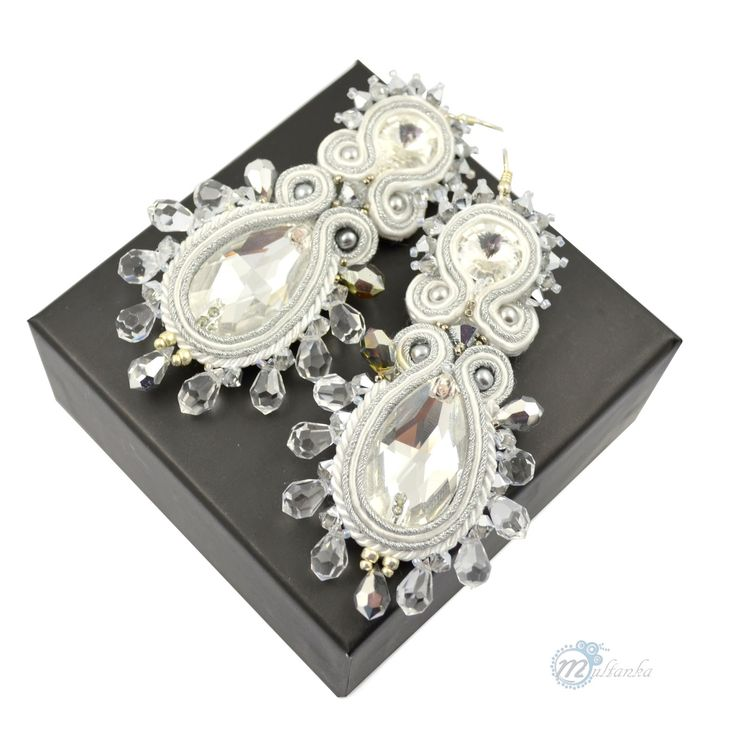 http://www.multanka.blogspot.com/p/bizuteria-slubna-bridal-collection.html #soutache #crystal #bride #multanka #earrings