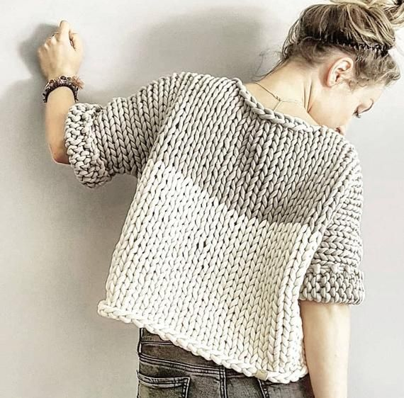 Big Little Crop Top Knitting Pattern - Knitted top, crop ...