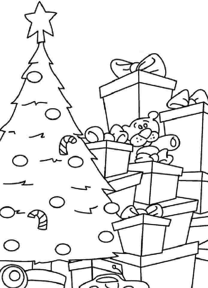 Colouring Sheets Christmas Tree Printable For Kids Boys 5450