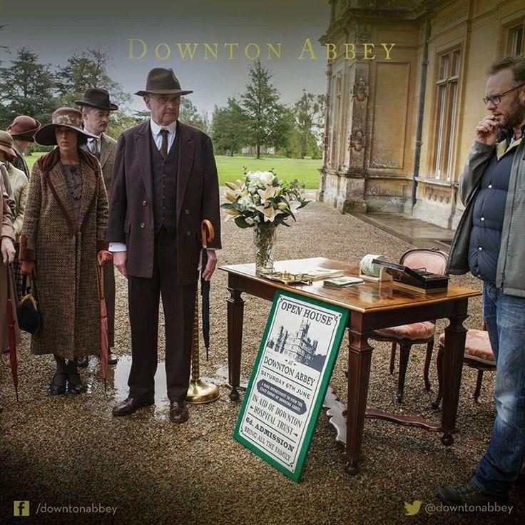 Old meets new.  #Downton #DowntonAbbey #BehindTheScenes #TheFinalSeries