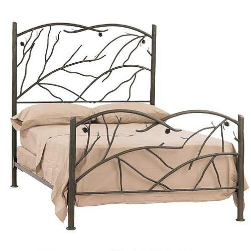 pine wrought iron bed by stone county ironworks
