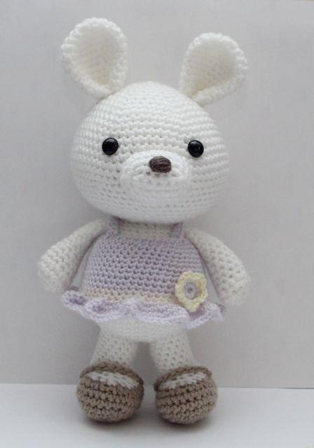 Amigurumi Crochet Pattern - Bunny lavande