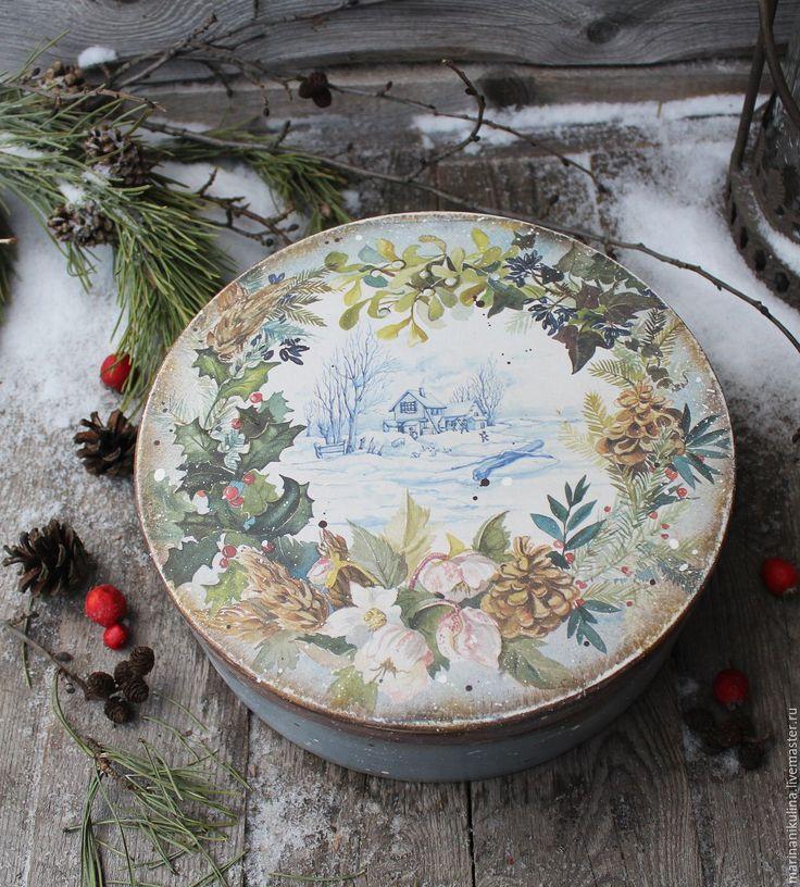 Купить или заказать 'Зимний день' короб в интернет-магазине на Ярмарке Мастеров…