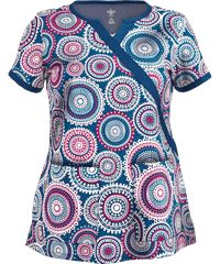 Med Couture Scrubs Caribbean Charm Print Top