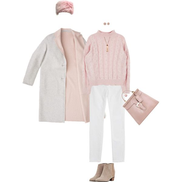 Winter White & Rose by polylana on Polyvore featuring J Brand, Golden Goose, Erika Cavallini Semi-Couture, Marc by Marc Jacobs, Ted Baker and winterwhite