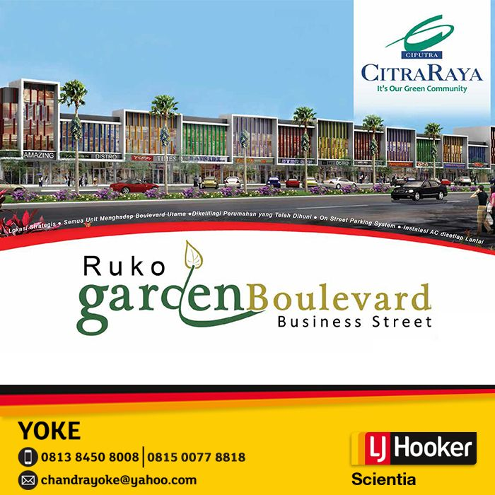 RUKO Garden Boulevard - Business Street @ Citra Raya - in front of Cluster GardenVille