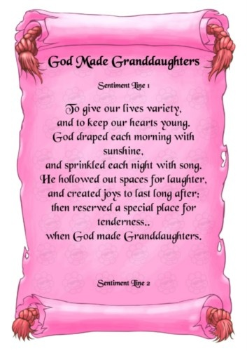 granddaughter sayings...... My dear mummy would be all over this one.... Can almost hear the tears!
