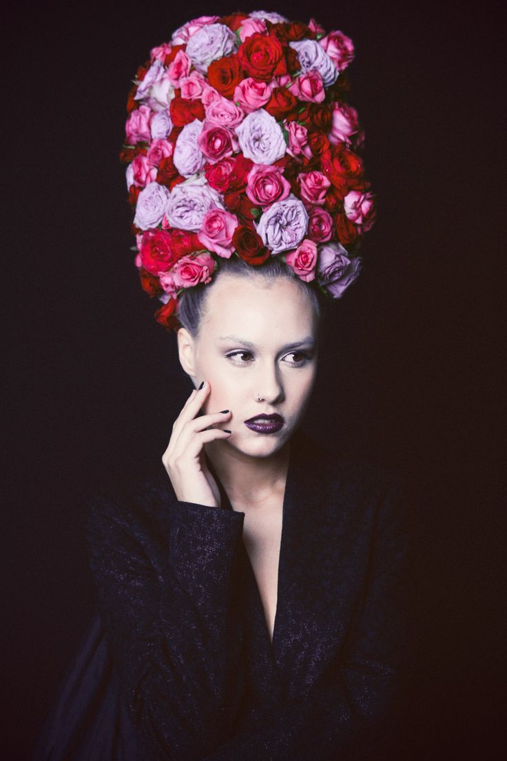 Avant garde floral headpieces by Mindy Dalzell of Twig & Arrow  featured on Paper & Lace http://paperandlace.com/2014/07/avant-garde-wedding-head-piece-inspiration-that-is-out-of-this-world/ photos by Jess O'Brien and model Jasmine Gemma Lee