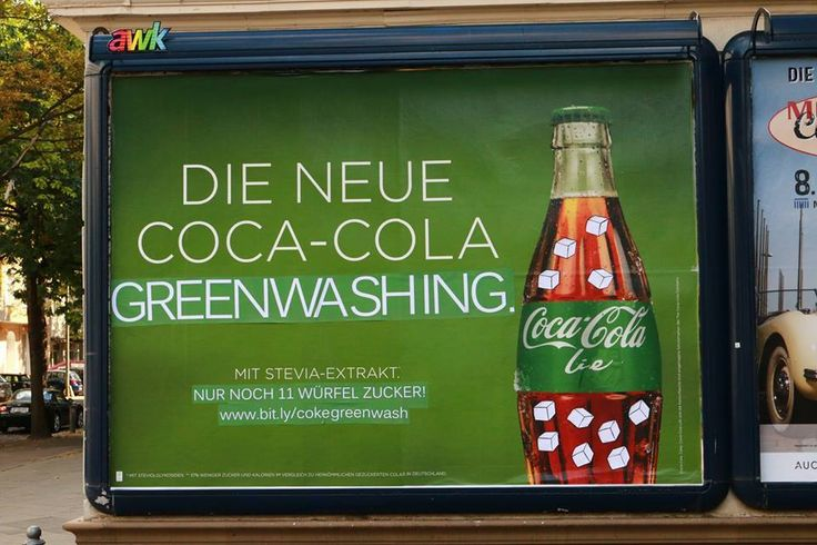 "Dies Irae adbusting greenwashing #CocaCola ""LIE"""