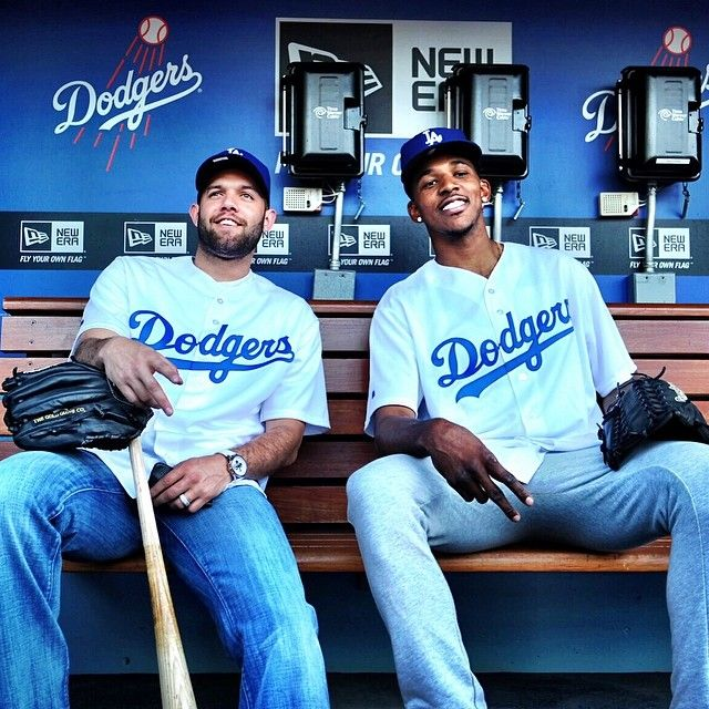 Jordan Farmar and Nick Young: Lakers in the Dugout!