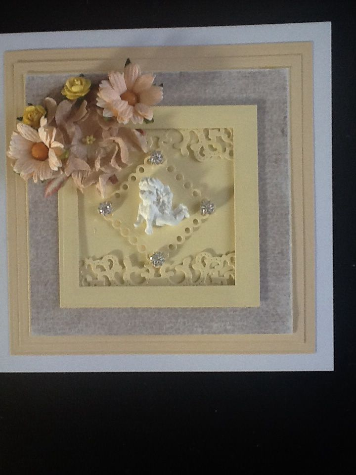 Made using spellbinders grand Squares.Paper is from Maja, flowers from Wild Orchid and C&C
