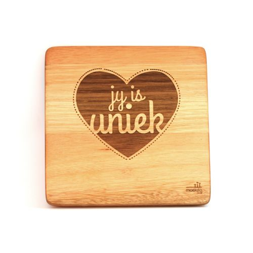 """Jy is uniek."" A simple, creative design but such beautiful words. These can be bought individually or buy the whole set!"