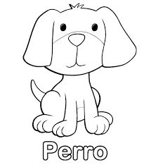 Resultado de imagen para perro dibujo para colorear