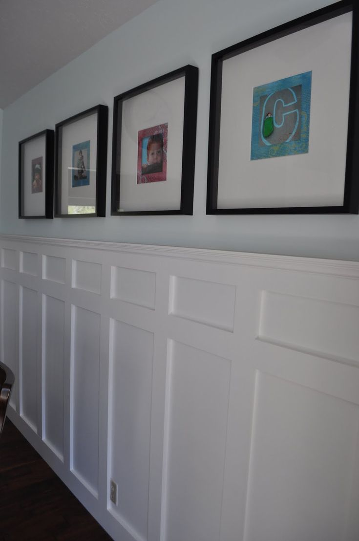 Unique Way To Do Wainscoting For The Home Pinterest