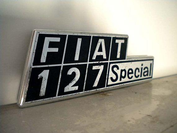 Italian Car Label Fiat 127 by uhlalalebrocantage on Etsy, €10.00