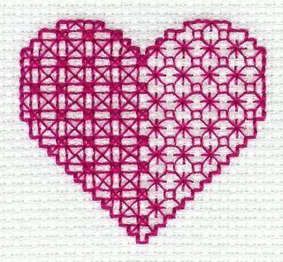 Valentine Blackwork designed by Jan Eaton for Tom Pudding Designs
