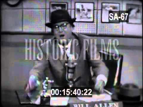 For licensing inquiries please contact Historic Films Archive (www.historicfilms.com / info@historicfilms.com) Sports Round-Up: Steve Allen as a Sportscaster....