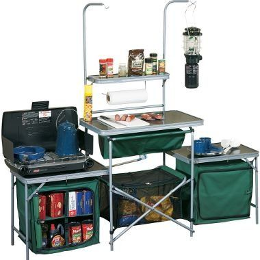 All in one camping kitchen. Keep your kitchen area organized with this great gadget.