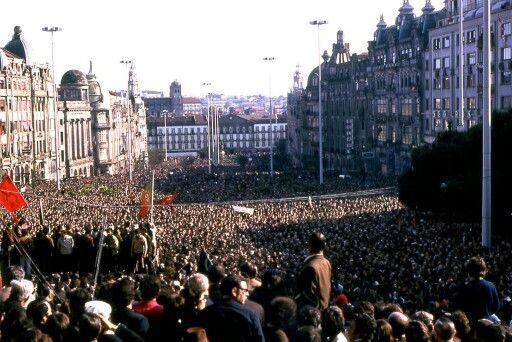 1 de Maio de 1974 nos Aliados no Porto