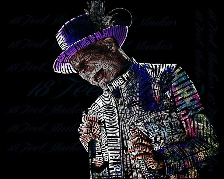 Gord Downie Typography Portrait by lilysmom85.deviantart.com on @DeviantArt