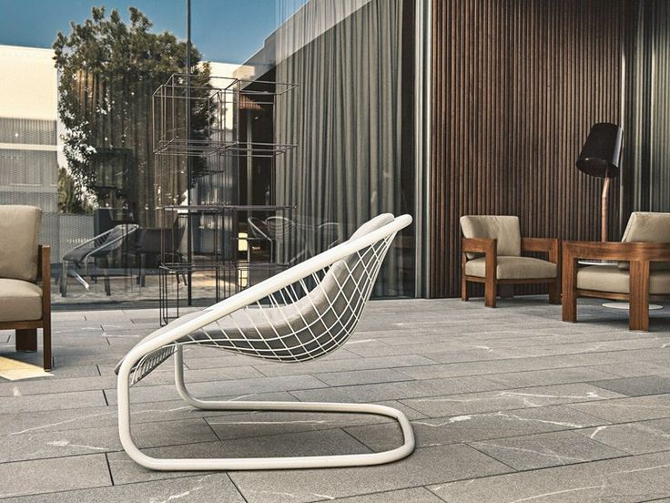 The Cortina Armchair Has A Wire Mesh Frame So Lightweight It Seems To Defy  Gravity. The New Outdoor Version Of The Cortina Armchair Considerably  Expands Its ...